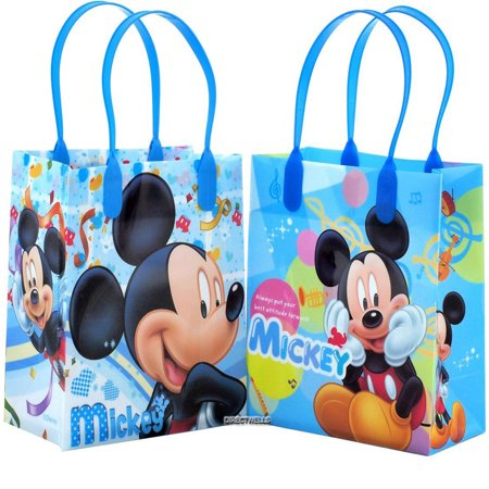 Disney Mickey Mouse Best Attitude Blue 12 Party Favors Small Goodie Gift Bags