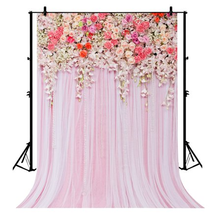 Gckg 7x5ft Pink Flowers Wedding Background Floral Polyester Photography Backdrop Studio Prop Photo Background Walmart Canada