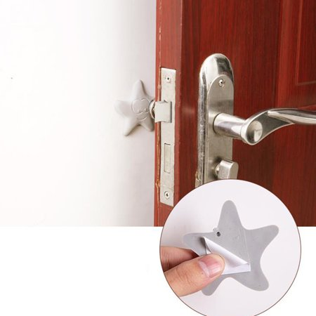 1X Thicken Rubber Wall Guard Self-Adhesive Door Handle Bumper Stopper Protector Color:Round White - image 4 of 8