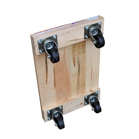 VESTIL HDOS-1624-9 Hardwood Dolly - Solid Deck