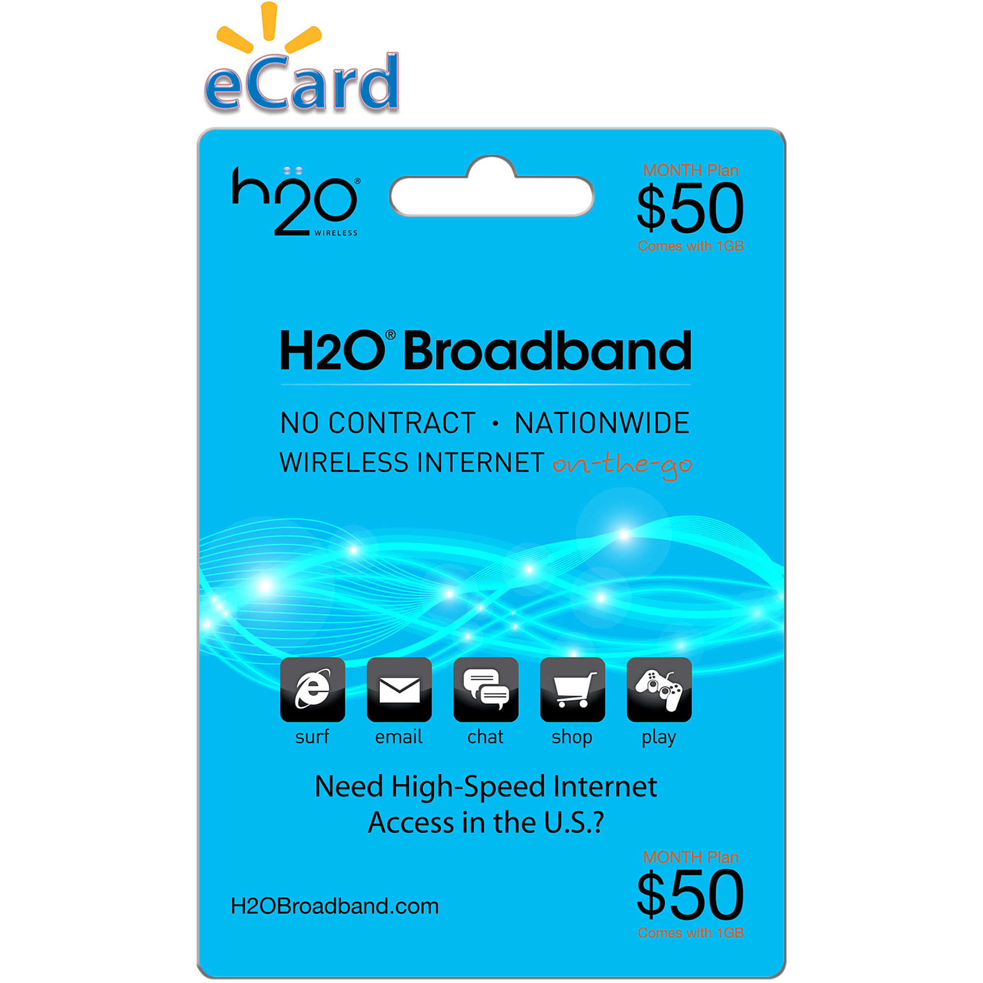 H20 Wireless Broadband $50 (Email Delivery)