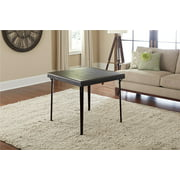 """32"""" Square Wood Folding Table with Vinyl Inset, Espresso"""