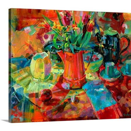 Great BIG Canvas Peter Graham Premium Thick-Wrap Canvas entitled Sienna Bouquet (oil on (Gorham Classic Bouquet)