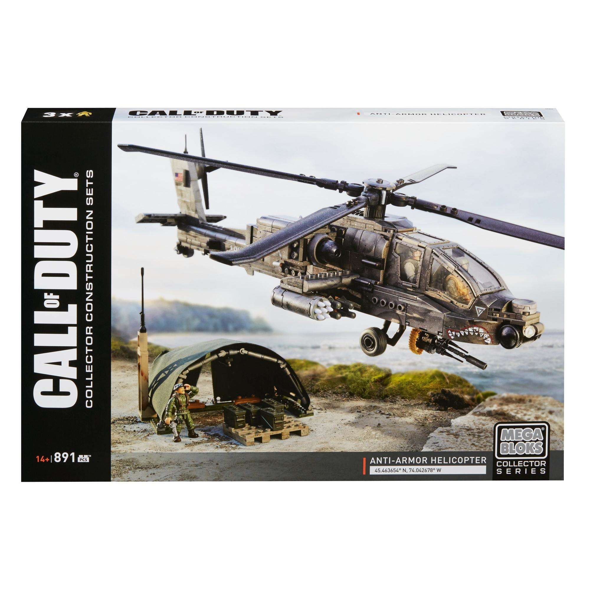 Mega Consturx Call Of Duty Anti-Armor Helicopter Collector Construction Set by Mattel