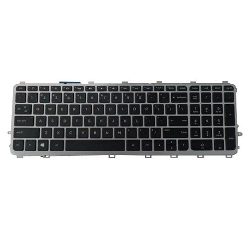Backlit Keyboard w/ Silver Frame for HP Envy 15-J 17-J M7-J Laptops
