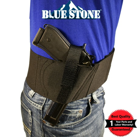 Bluestone Basic Belly Band Holster|Concealed Carry Belly Band| Belly Band  Gun Holster| Glock 17 Glock 19, Glock 26, Glock 42, Sig P226 Belly band