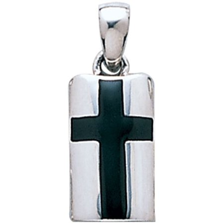 Celtic Onyx Cross (Sterling Silver Celtic Cross Pendant with Black)
