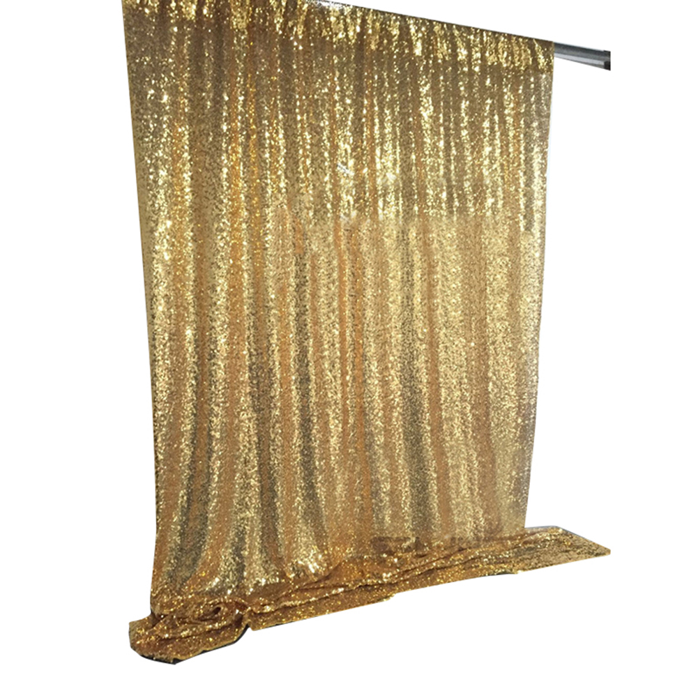 Shimmer Sequin Restaurant Curtain Wedding Photobooth Backdrop Party Photography Background Color:Gold Size:120 * 180cm