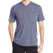 Under Armour NEW Blue Mens Small S Loose Fit Heatgear V-Neck T-Shirt