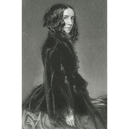 Feminist Photo - Elizabeth Barrett Browning 1806 1861 English Poetess And Feminist PosterPrint