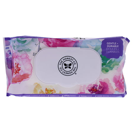 Honest Baby Wipes - Rose Blossom for Kids - 72 pc Wipes