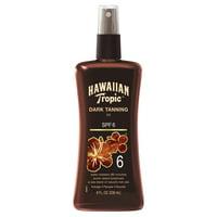Hawaiian Tropic Dark Tanning Oil Pump Spray SPF 6, 8 Oz