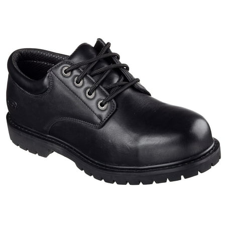 Skechers Work Men's Cottonwood Elks Lace Up Slip-Resistant Oxford Work Shoes