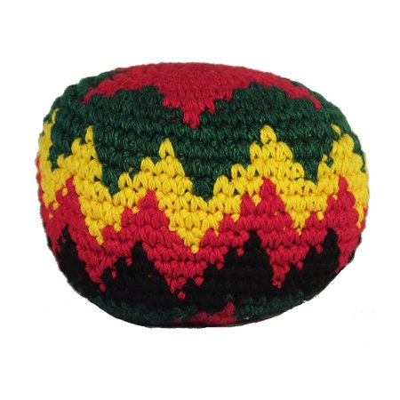 MultiColor Hacky Sack SINGLE RASTA RED- Assorted Colors and Geometric Patterns