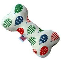 Hot Air Balloons 6 Inch Canvas Bone Dog Toy