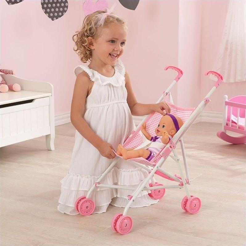 Kid Kraft Darling Doll Umbrella Stroller, Pink