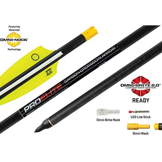 "Ten Point Carbon Crossbow Bolt Arrows 20/"" w// Omin Nock 6 pack HEA630"