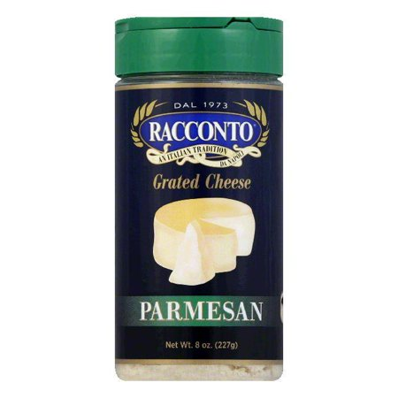 Parmesan Romano Cheese (Racconto Cheese Shaker Parmesan, 8 OZ (Pack of 6) )