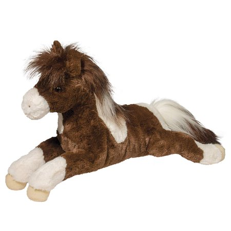 Pink Horse Costume (Douglas Maureen Brown and White Floppy Paint Horse Stuffed Animal,)