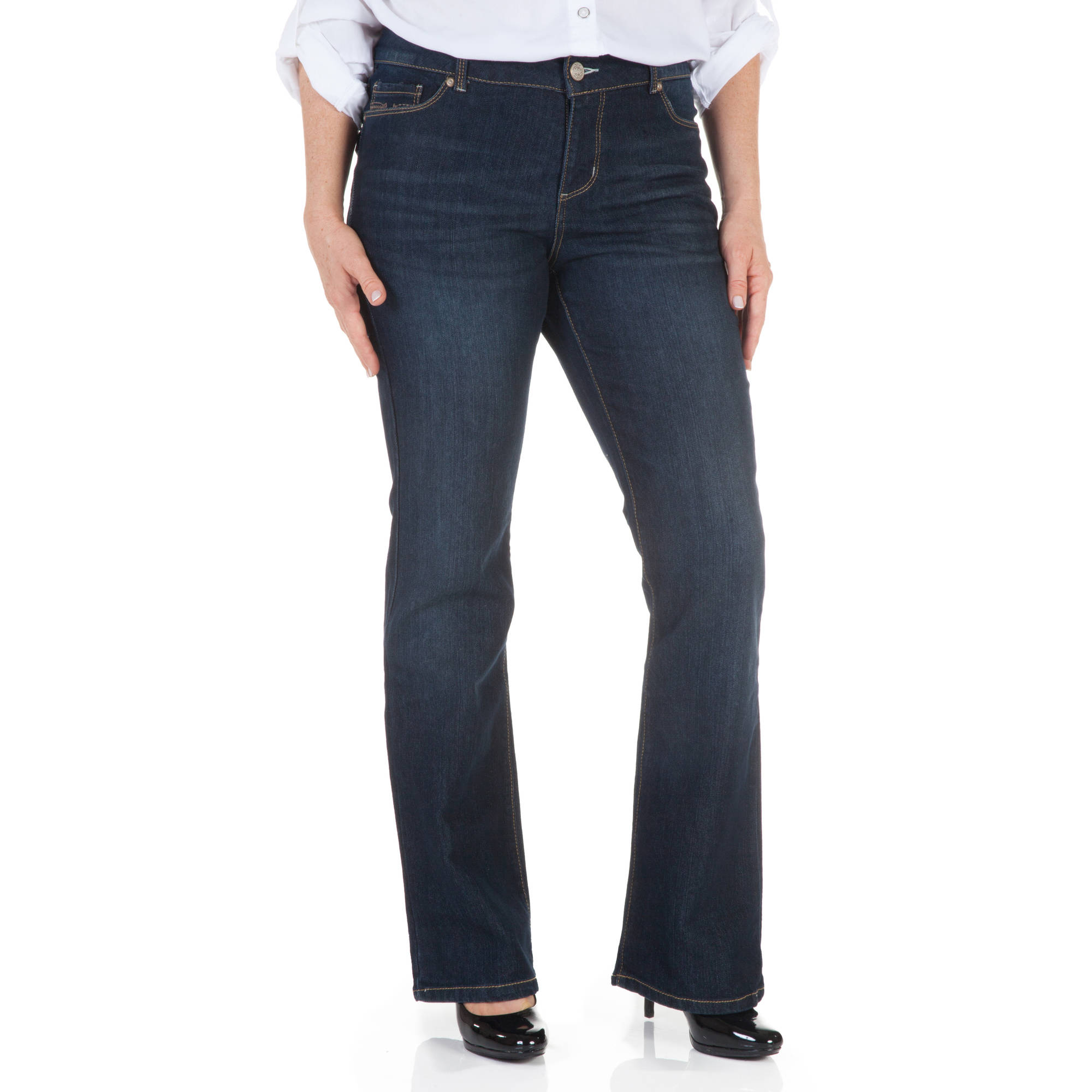 Faded glory women's basic bootcut jeans petite