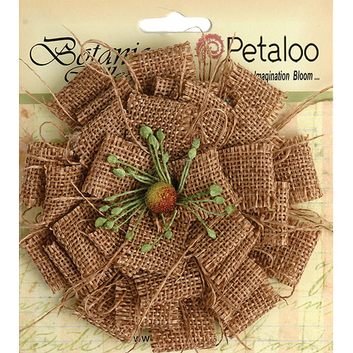 Petaloo P1202-000 Textured Elements Burlap Blossom Large-Natural