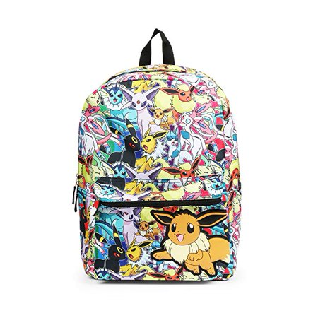 Pokemon Eevee Evolution All Over Print Backpack School Bag Evee](Pokemon Gift Bags)