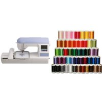 Brother 5x7 inch Embroidery-only machine with built-in memory - PE770 & Embroidery Thread Set (50 pcs)