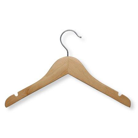 Honey Can Do Basic Kids Shirt Hanger, Maple Finish, -