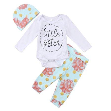 4b41f3b81 Faithtur - Newborn Baby Girls Clothes Little Sister Long Sleeve ...