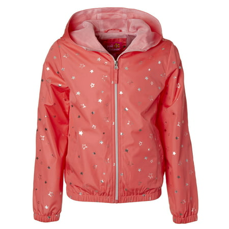 Star Foil Print Windbreaker Jacket with Mesh Lining (Little Girls & Big Girls)