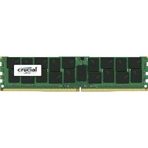 Crucial 64GB DDR4-2400 LRDIMM - 64 GB (1 x 64 GB) - DDR4 SDRAM - 2400 MHz DDR4-2400/PC4-19200 - 1.20 V - ECC - Registered - LRDIMM