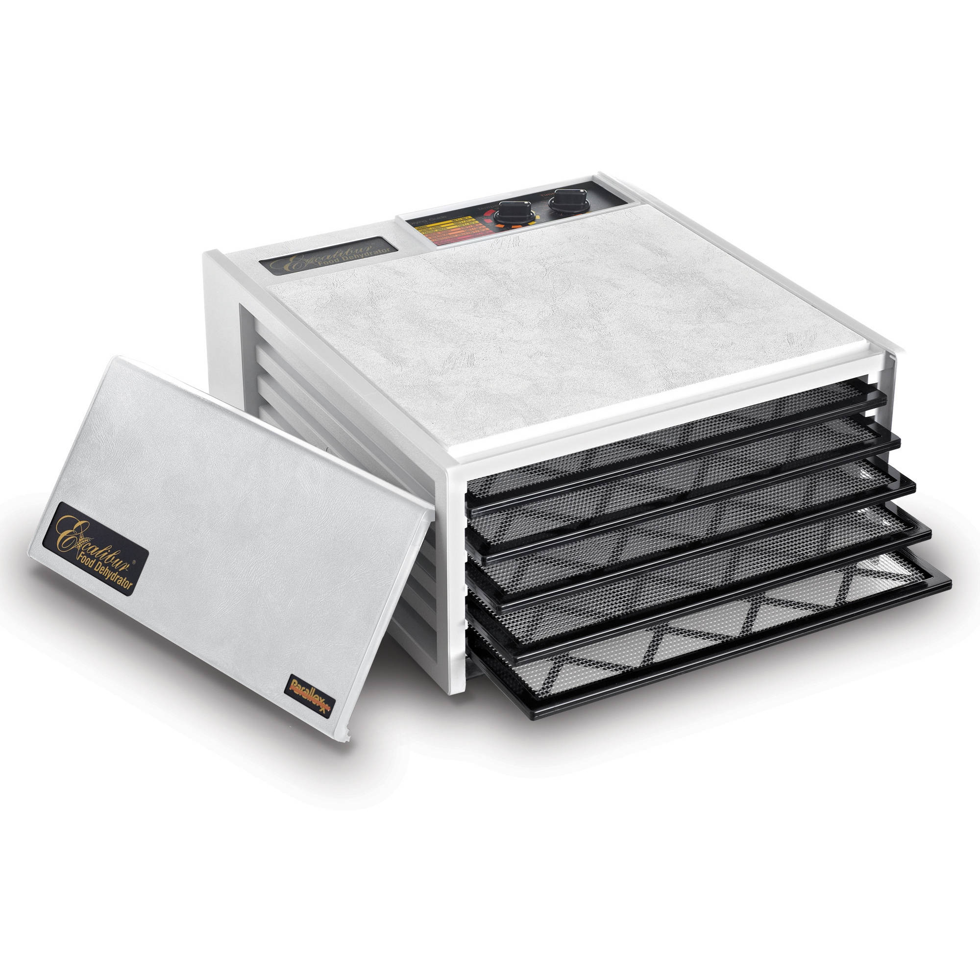 Excalbur 5-Tray Dehydrator with Timer, White by Excalibur