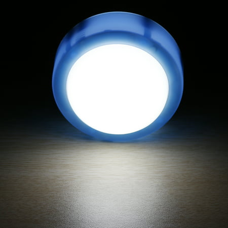 2pcs Battery Powered 7.8cm Diameter Touch Tap Light Cabinet Closet Lamp Blue - image 1 de 4