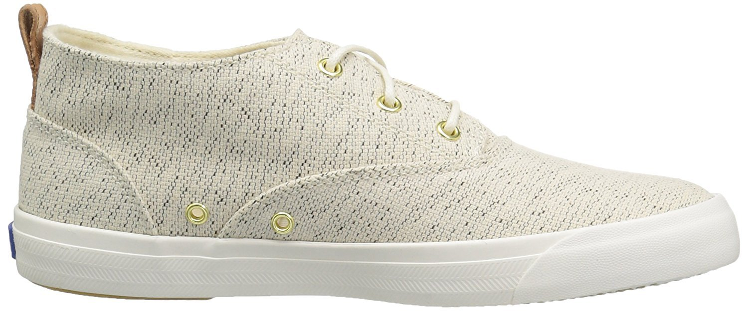 Keds Women's Triumph Mid Salt and Pepper Fashion Sneaker, Cream, 11 M US