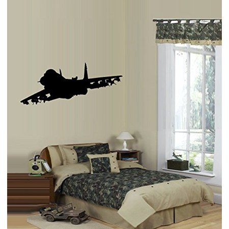 Decal ~ AIRPLANE FIGHTER JET ~ LARGE WALL DECAL 13
