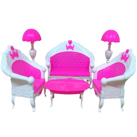 Mini Dollhouse Furniture Living Room Table Chair Lamp Sofa for ...