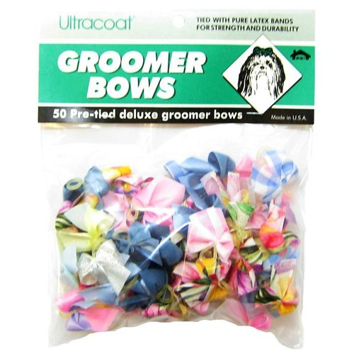Pet Supply Imports Ultracoat Pre-Tied Deluxe Groomer Bows 1.25 Inch Wide x 1 Inch High - 50 Count