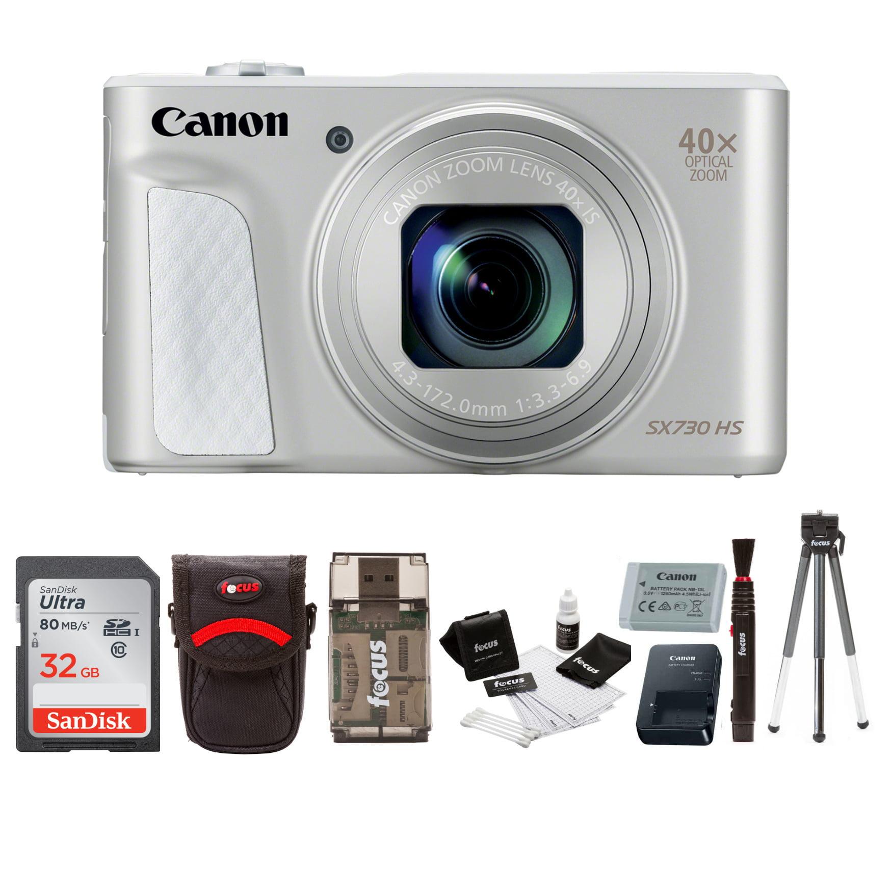 Canon Powershot SX730 Digital Camera (Silver) with 32GB Card Accessory Bundle