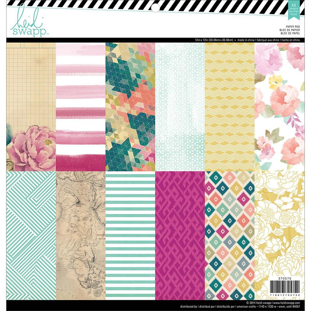 "American Crafts Heidi Swapp Paper Pad 12""X12"" 48/Pkg-Wanderlust"