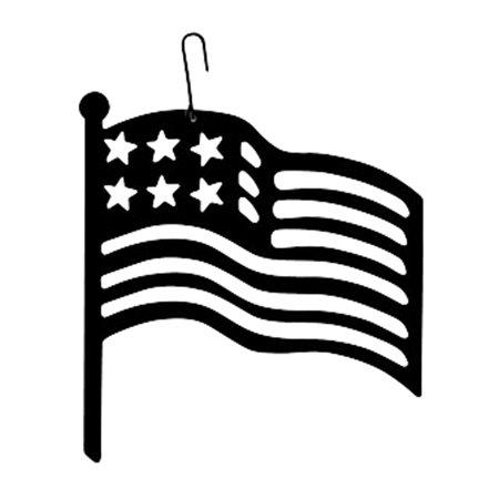 American flag silhouette. Village wrought iron hos