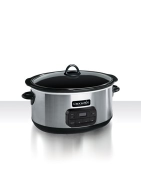 Crock-Pot 8 Quart Programmable Stainless Steel Slow Cooker