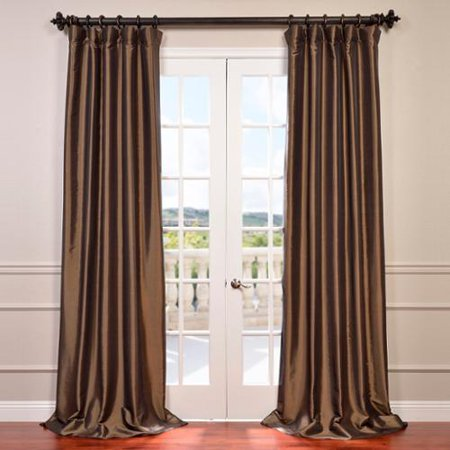 exclusive fabrics faux silk taffeta 120 inch blackout curtain panel. Black Bedroom Furniture Sets. Home Design Ideas