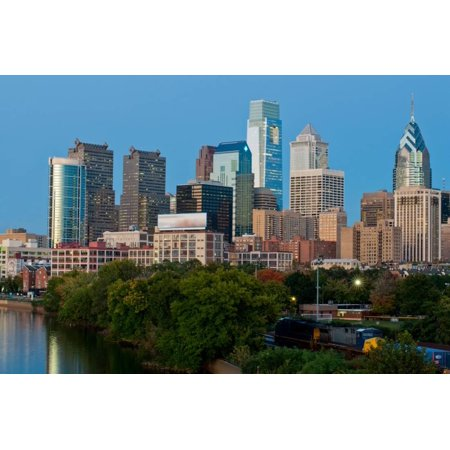 Skyscrapers in a City, Delaware River, Philadelphia, Pennsylvania, Usa Print Wall Art By Green Light Collection - Party City Delaware