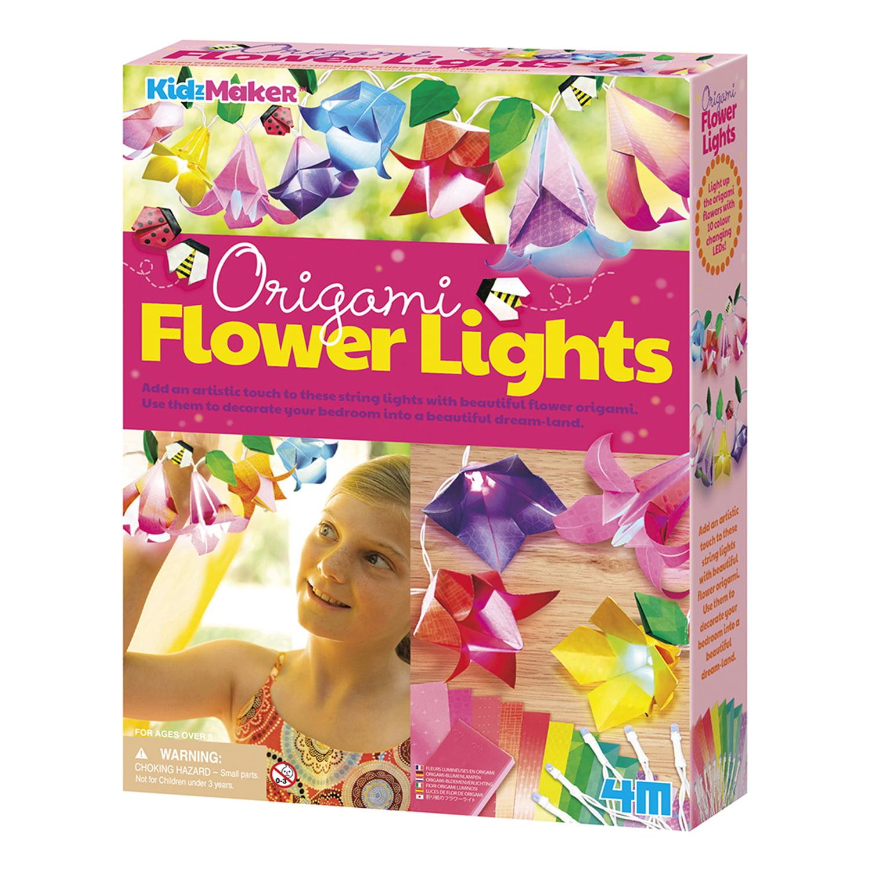 4M KidzMaker Origami Flower Lights