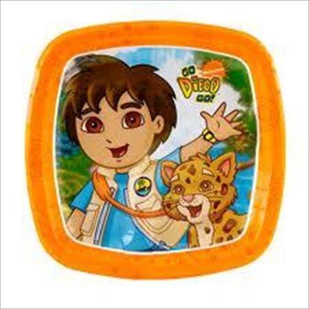 Go Diego Go! Small Square Paper Pocket Plates (8ct) (Go Diego Go Party Supplies)