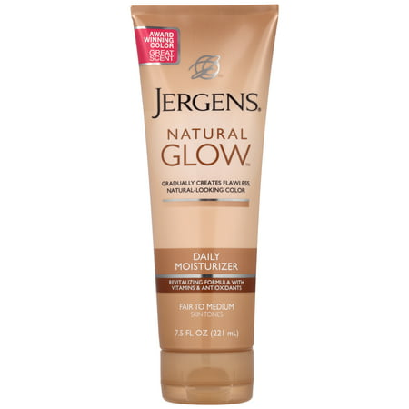 (2 pack) Jergens Natural Glow Daily Moisturizer Fair to Medium Skin Tones, 7.5 FL -