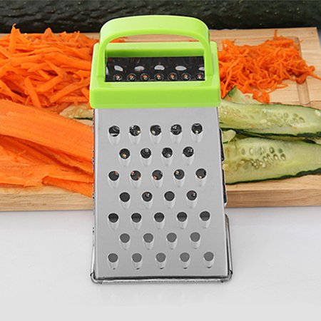 Box Grater 4-Sided Stainless Steel  Grater for Parmesan Cheese Vegetable Grater Kitchen Tool Helper  - image 2 de 9