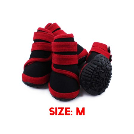4Pcs Dog Boots Waterproof Dog Shoes Pet Rain Anti-Slip Boots Outdoor Shoes  - image 1 of 2