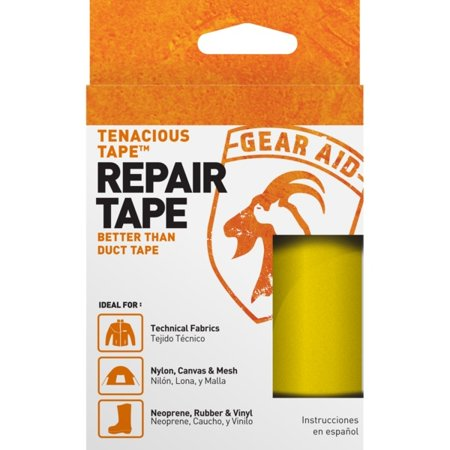 Yellow Tenacious Tape Ultra Strong Tent Repair Tape 3 inch x 20 inch