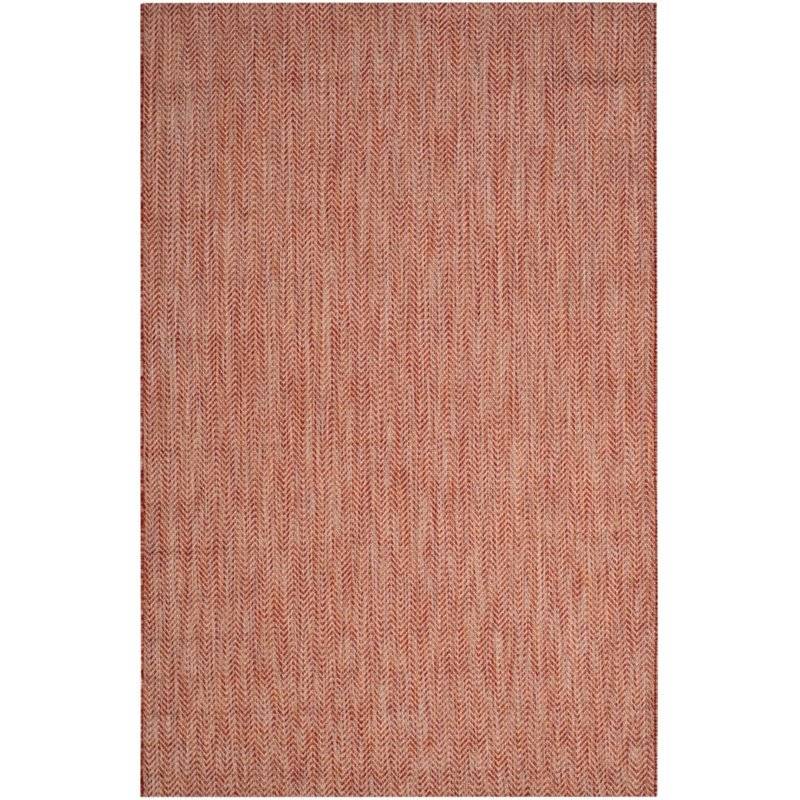 """Safavieh Courtyard 2'3"""" X 12' Power Loomed Rug in Red and Beige - image 1 of 7"""